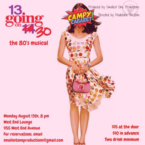 "e059e6b3fb9e ""13 Going on 30  The 80 s Musical"" is based on the popular rom-com starring  America s sweetheart Jennifer Garner. Featuring music of the Badass Bitches  of ..."