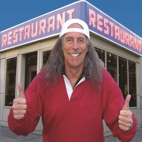Avid lewd studs bang in a restaurant