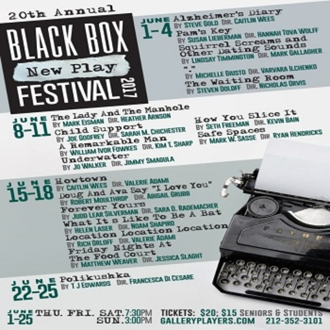 Black Box New Play Festival 2017. The Gallery Players Black Box New Play  Festival Directly Supports The Development Of New Plays And The Development  Of New ...